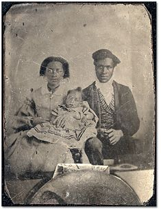 Vintage Black family portrait
