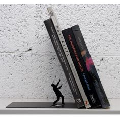 Falling Books Bookend - HA! Love it.