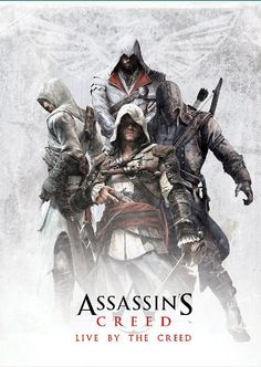 Assassin's Creed Poster with Altair, Ezio, Edward and Connor on Etsy, $30.00 AUD:
