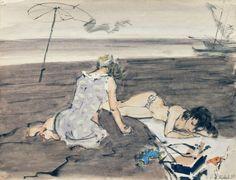 Советские девушки на холодном пляже.: zina_korzina