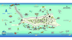 Never get lost at Four Seasons Resort #Maldives at Landaa Giraavaru again. Check out this fun map displaying all there is to do and where. Snorkeling, fishing, dolphin cruises, spa, tennis, eat, drink, be merry......etc... You get the picture.