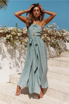 Bohemian maxi dress, boho style long dresses Source by mookyboutique dress styles Backless Maxi Dresses, Maxi Dress With Slit, Beach Dresses, The Dress, Sexy Dresses, Evening Dresses, Casual Dresses, Long Dress Beach, Long Dresses