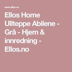 Ellos Home Ullteppe Abilene - Grå - Hjem & innredning - Ellos.no