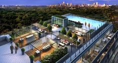 Rise Condos is a condo development by Reserve Properties located at 501 St. Condo Investments - Your One Stop Source for Toronto Condos. Rooftop Terrace Design, Rooftop Patio, Patio Roof, Terrace Garden, Garden Floor, Pool Bar, Condo Floor Plans, Toronto Hotels, Terrasse Design
