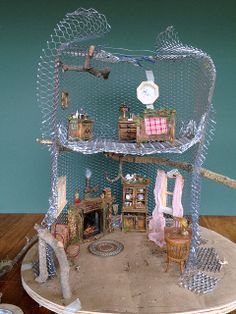 Tutorial: Fairy House Tree House by Torisaur, via Flickr