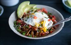 Breakfast Chili — This quick-prep breakfast chili couldn't be easier to make. Whether you eat it for breakfast or brinner, we love it topped with a fried egg and hot sauce.