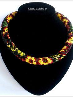 Seed beaded crochet Slavic folklore traditional от LariLaBelle