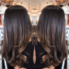 63 Ideas hair color ombre summer brunettes - All For Hair Color Balayage Brown Hair Balayage, Hair Color Balayage, Balayage Hair Brunette Straight, Babylights Brunette, Soft Balayage, Balayage Hair Caramel, Honey Balayage, Hair Color Highlights, Ombre Hair Color