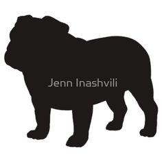 """Bulldog Silhouette"" Stickers by Jenn Inashvili | Redbubble"