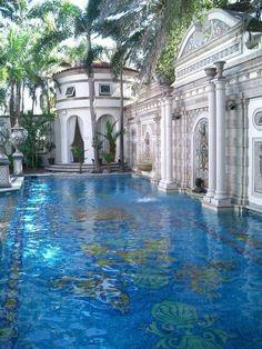 The Pool at Casa Casauarina, the South Beach Mansion that belonged to Gianni Versace. Like something out of a fairy tale.                                                                                                                                                     More