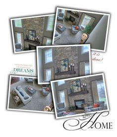 """""""Dream Home I"""" by caili ❤ liked on Polyvore featuring interior, interiors, interior design, home, home decor, interior decorating, WALL and living room"""