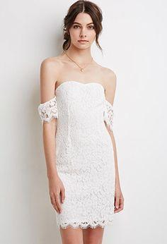 Off-the-Shoulder Eyelash Lace Dress   Forever 21 - 2002247412