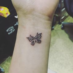 Got my first ever tattoo- semicolon butterfly #semicolonbutterflytattoo #semicolontattoo #semicolonbutterfly #recoverytattoo