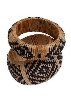 Straw Stitched Bangles