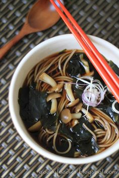 Eat Your Heart Out: Recipe: Japanese Soba-Noodle in Hot Broth