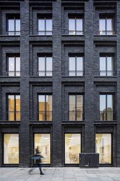 Contemporary Black Brick House