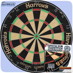 Dartboards - Harrows - Entry Level - Official Competition - Bristle Dartboard