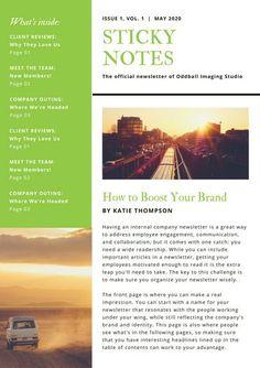 Contemporary Newsletter Design  NewsletterCoverDesign