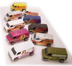 Very cool Hot Wheels Van collection. Custom Hot Wheels, Vintage Hot Wheels, Hot Wheels Cars, Cool Sports Cars, Cool Cars, Hot Wheels Display, Old School Toys, Matchbox Cars, Weird Cars