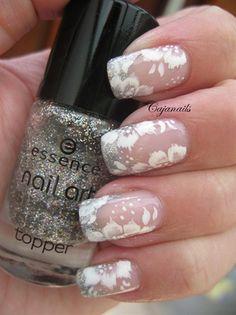 Elegant Bridal by Cajanails - Nail Art Gallery nailartgallery.nailsmag.com by Nails Magazine www.nailsmag.com