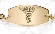 Gold Prestige Medical ID Bracelet full size