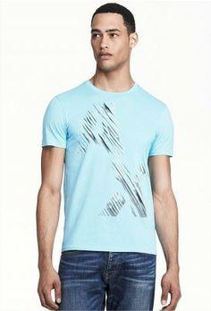 05fee02d6d Camiseta Armani Exchange Men s Sliced Logo Tee Sea Spray E6X664  Camiseta   Armani Exchange