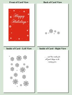 Snowflakes Design - Free Printable Christmas Cards-Super Cute Printable Card!