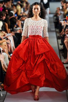 oscar de la rents sp 2013. that skirt!