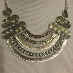 Silver color boho style necklace Boho necklace silver color fashion necklace NEW IN PACKAGE Jewelry Necklaces
