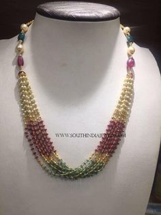 Gold Pearl Mala Designs, Gold Pearl Mala Models With Weight 23 Grams.