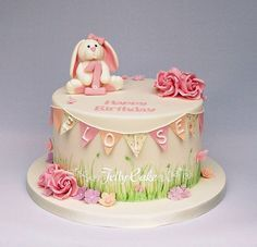 1 st birthday cakes girl with bunny - Google Search