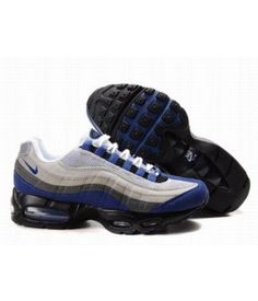 competitive price aed2a cad0b Nike Air Max 95 Mens Premium Trainers Blue Black White And Grey