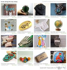 loves along the way @etsy treasury featuring Love sign, home decor, blanket scarf, labradorite necklace, baby mobile, edwardian brooch, hamsa hand, turquoise pendant, Easter Basket, statement ring, dryer balls, dead sea soap. fox mug