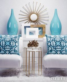 Spring Style Tip: infuse aquamarine to recharge your surroundings and spirit.
