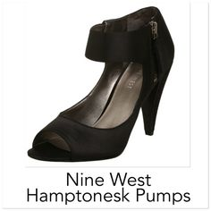 NINE WEST Satin Pumps New Gorgeous!!  Brand new in box, wrapped in plastic with plastic feet for shape maintaining, stunning black satin peep toe pumps with side zipper. A perfect shoe, for the perfect everyday! Closet essential for sure. Don't miss out. Size 10M   got my bosses permission to drop to lowest. ♥ will leave it at the lowest. Firm at 40!! GREAT  Nine West Shoes Heels