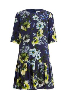 Emmie Hasu Night-print silk-crepe dress | Erdem | MATCHESFASHION.COM