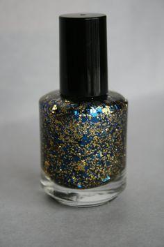 University of Michigan Wolverines Glitter Nail Polish by Megpolish, $8.00