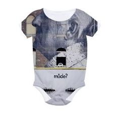 Baby Bodysuit with image from a Berlin Wall with a question