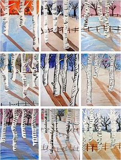 have yet to try this birch tree landscape, it's on my art list