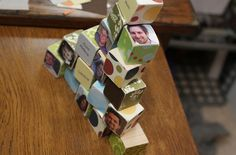 blocks with family pictures and names..great gift idea and learning tool