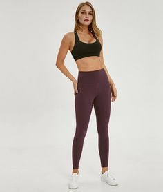 Sports Bras for Women Comfortable Yoga Tops Active wear Workout ClothesSports Type: FitnessModel Number: Anti-sweatMaterial: Spandex + Type: Cross backColors:: Black, white, Lavender, Light blueFeature: with built in bra Sports Trousers, Sports Leggings, Active Wear For Women, Suits For Women, Sports Crop Tops, Yoga Bra, Yoga Tops, Sport Wear, Sport Outfits