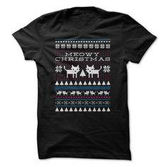 Meowy Christmas T-Shirts, Hoodies. ADD TO CART ==► https://www.sunfrog.com/Holidays/Meowy-Christmas-64485254-Guys.html?id=41382
