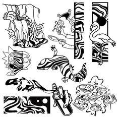 Blue Ink Tattoos, Mini Tattoos, Black Tattoos, Doodle Tattoo, Dot Work Tattoo, Tattoo Sleeve Filler, Sleeve Tattoos, Skeleton Hand Tattoo, Line Art Design