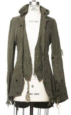 Recycled renaissance army jacket