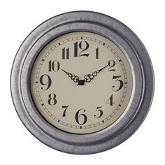RYTTIS Wall clock, galvanized