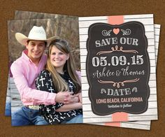 25 Rustic Chalkboard Save the Date Magnets by LittleBeesGraphics, $12.99