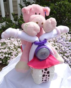 Piggy in Pink Diaper Motorcycle by PoppyHillBaby on Etsy, $60.00 Pink Motorcycle, Baby Car Seats, Trending Outfits, Children, Unique Jewelry, Handmade Gifts, Vintage, Etsy, Young Children