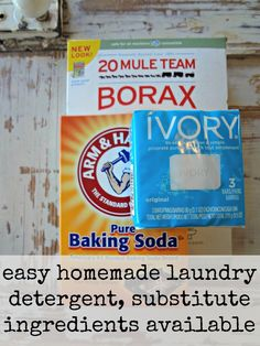 1 bar (or 4.5 ounces) of shaved bar soap (Dr. Bronner's, Ivory, ZOTE, Fels-Naptha) 1 cup of borax 1 cup of washing soda Thoroughly stir together for 5 minutes and enjoy the results!  That's it folks…seems too good to be true, but it is true indeed!