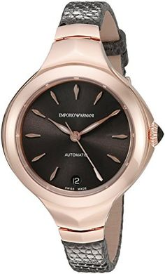 Emporio Armani Swiss Made Women's ARS8203 Analog Display Swiss Automatic Grey Watch