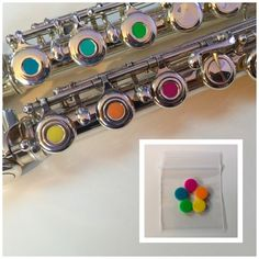 RAINBOW Open Hole Flute Plugs Set, Fit Most Makes, YAMAHA GEMEINHARDT JUPITER - http://musical-instruments.goshoppins.com/woodwinds/rainbow-open-hole-flute-plugs-set-fit-most-makes-yamaha-gemeinhardt-jupiter/